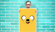 Jake The Dog - Yellow - Wall Art Print Poster   Geekery